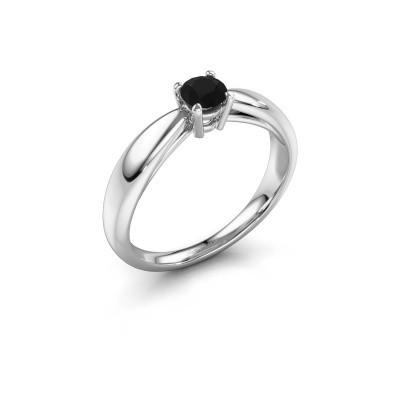 Foto van Verlovingsring Nichole 585 witgoud zwarte diamant 0.36 crt
