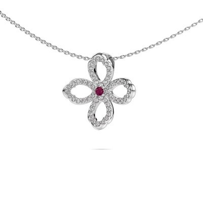 Picture of Necklace Chelsea 585 white gold rhodolite 2 mm