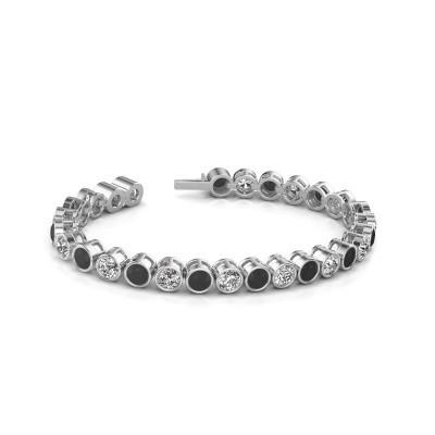 Foto van Tennisarmband Mandi 585 witgoud zwarte diamant 15.40 crt