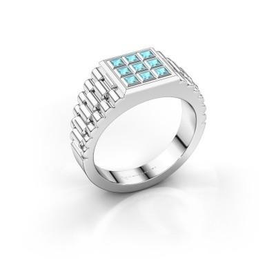 Foto van Rolex stijl ring Chavez 925 zilver blauw topaas 2 mm