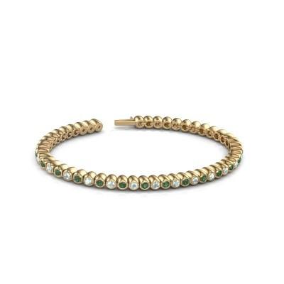 Foto van Tennisarmband Patrica 375 goud smaragd 2.4 mm