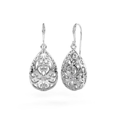 Picture of Drop earrings Idalia 2 585 white gold zirconia 2 mm