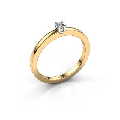 Foto van Verlovingsring Mozelle 585 goud diamant 0.10 crt