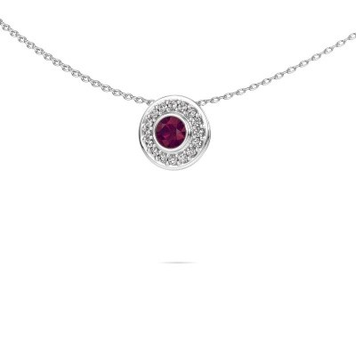 Picture of Necklace Gretta 925 silver rhodolite 4 mm