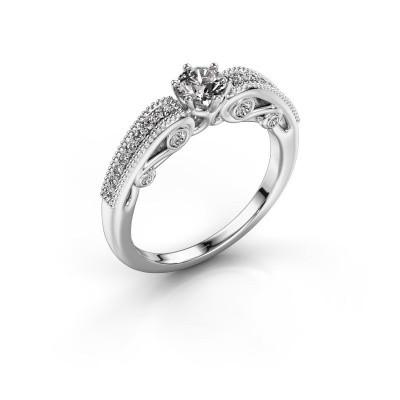 Foto van Verlovingsring Christeen 585 witgoud diamant 0.53 crt