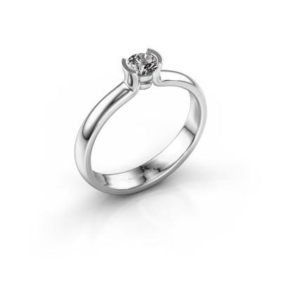 Foto van Verlovingsring Ophelia 925 zilver diamant 0.25 crt