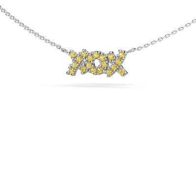Picture of Necklace XoX 925 silver yellow sapphire 1.5 mm