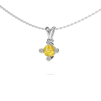 Picture of Pendant Cornelia Round 950 platinum yellow sapphire 5.5 mm