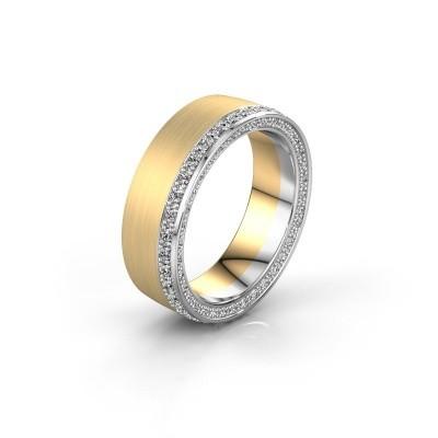 Trouwring WH2224L26C8 585 goud zirkonia 1.3 mm ±6x2.2 mm