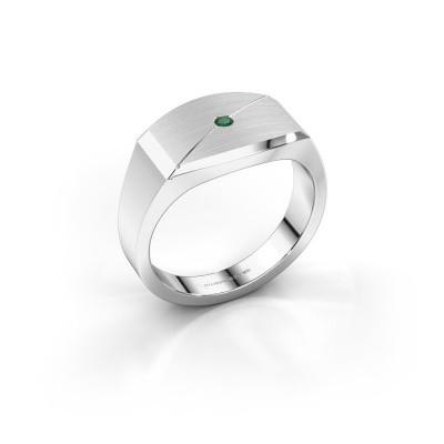 Foto van Heren ring Joe 5 925 zilver smaragd 2 mm