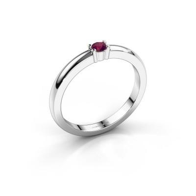 Foto van Promise ring Yasmin 1 925 zilver rhodoliet 2.7 mm