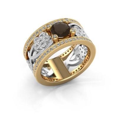 Foto van Ring Severine 585 goud rookkwarts 6 mm