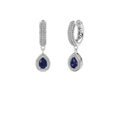 Picture of Drop earrings Barbar 2 375 white gold sapphire 6x4 mm
