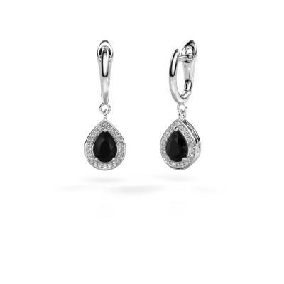 Picture of Drop earrings Ginger 1 950 platinum black diamond 1.67 crt