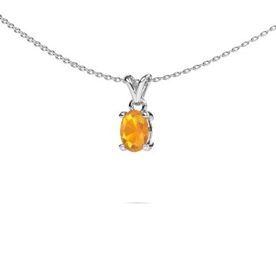 Picture of Necklace Lucy 1 950 platinum citrin 7x5 mm