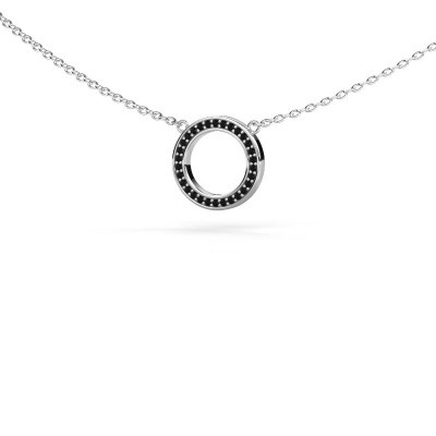 Picture of Pendant Round 1 375 white gold black diamond 0.09 crt
