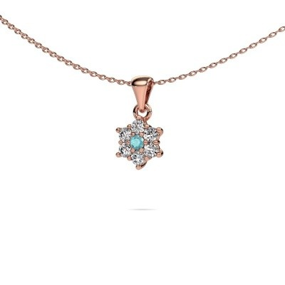 Picture of Necklace Chantal 585 rose gold blue topaz 2.4 mm