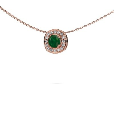Picture of Necklace Carolina 375 rose gold emerald 5 mm