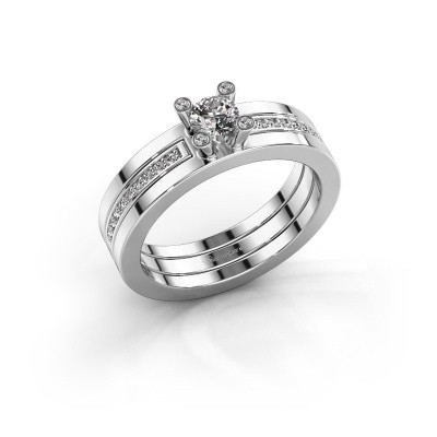 Foto van Ring Alisha 585 witgoud diamant 0.36 crt