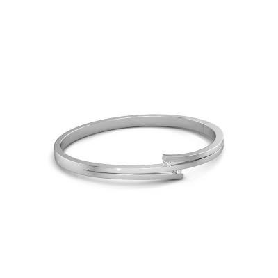 Foto van Armband Roxane 585 witgoud diamant 0.06 crt
