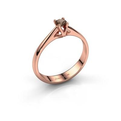 Foto van Verlovingsring Janna 1 585 rosé goud rookkwarts 3.4 mm