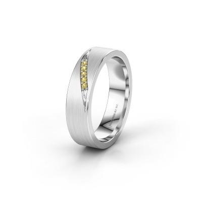 Trouwring WH2148L25AM 925 zilver gele saffier ±5x1.7 mm