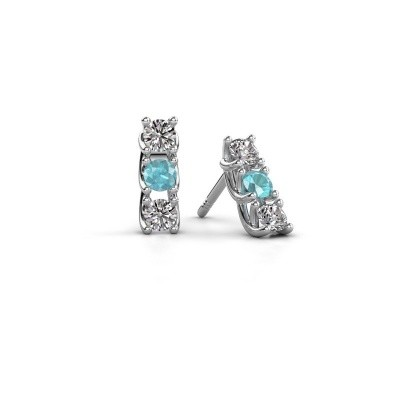 Picture of Earrings Fenna 925 silver blue topaz 3 mm