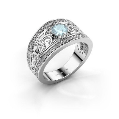 Picture of Ring Marilee 585 white gold aquamarine 5 mm