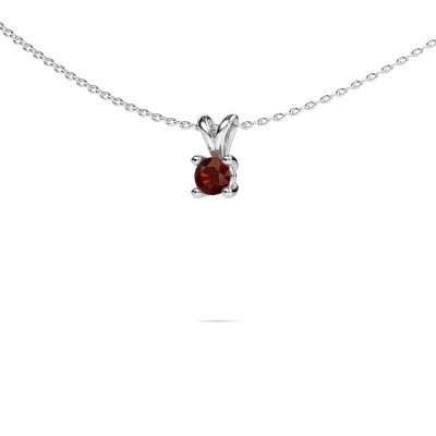 Picture of Necklace Sam round 950 platinum garnet 4.2 mm