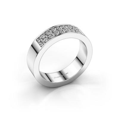 Foto van Aanschuifring Catharina 5 950 platina diamant 0.32 crt