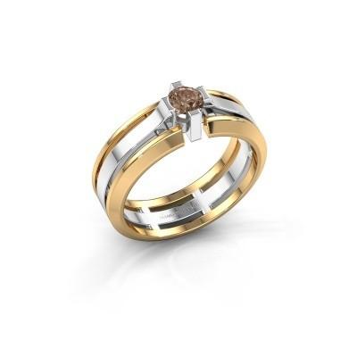 Foto van Heren ring Sem 585 witgoud bruine diamant 0.40 crt