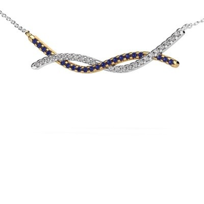 Picture of Bar necklace Breanne 585 gold sapphire 1.2 mm