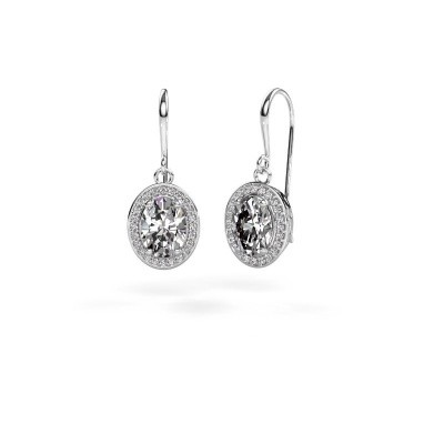 Picture of Drop earrings Latesha 375 white gold zirconia 8x6 mm