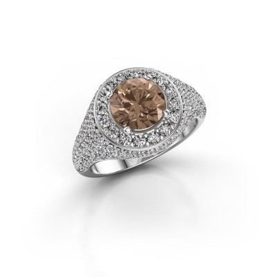 Foto van Ring Dayle 950 platina bruine diamant 2.463 crt