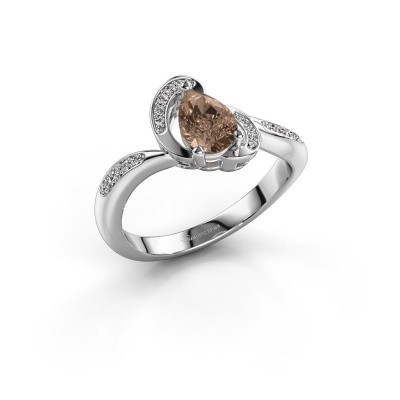 Picture of Ring Jonelle 585 white gold brown diamond 0.748 crt