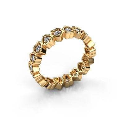 Foto van Aanschuifring Pleun 585 goud diamant 0.54 crt
