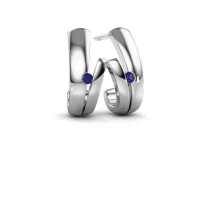 Picture of Earrings Shela 925 silver sapphire 2 mm