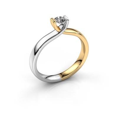 Verlovingsring Noor 585 goud diamant 0.20 crt
