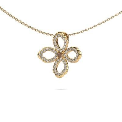 Bild von Kette Chelsea 585 Gold Braun Diamant 0.31 crt