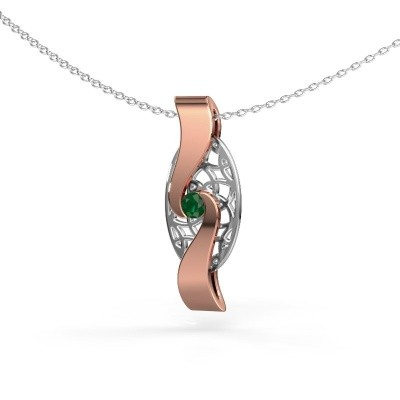 Picture of Pendant Darleen 585 rose gold emerald 3 mm