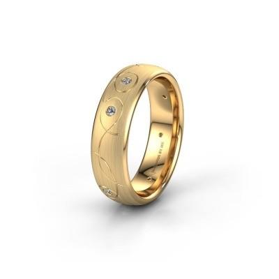 Trouwring WH2068L36BM 585 goud diamant ±6x2 mm