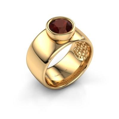 Foto van Ring Klarinda 585 goud granaat 7 mm
