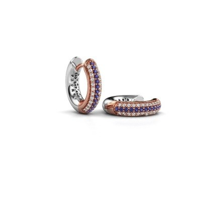 Picture of Hoop earrings Tristan B 14 mm 585 rose gold sapphire 1 mm