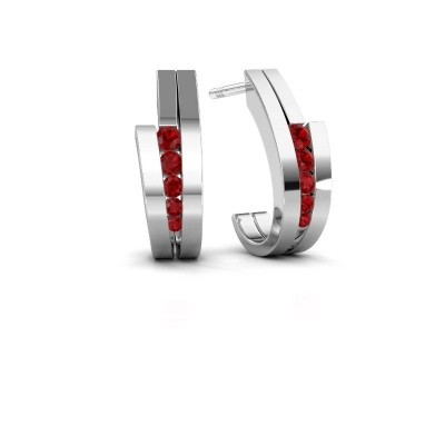 Picture of Earrings Cato 925 silver ruby 2.2 mm