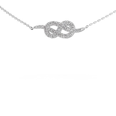 Picture of Bar necklace Infinity 1 585 white gold diamond 0.328 crt