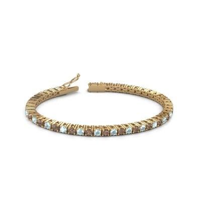Foto van Tennisarmband Jenny 375 goud bruine diamant 4.32 crt