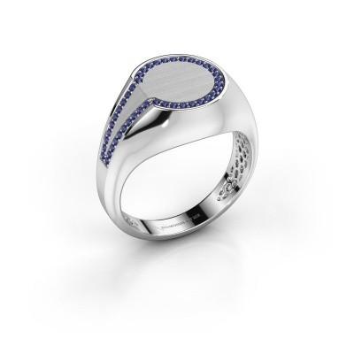 Foto van Heren ring Gijs 375 witgoud saffier 1 mm