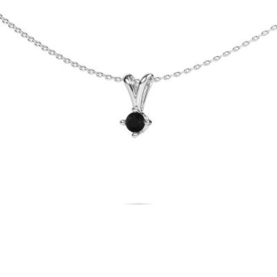 Picture of Necklace Jannette 950 platinum black diamond 0.24 crt