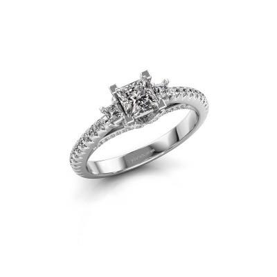 Foto van Verlovingsring Valentina 585 witgoud diamant 0.88 crt