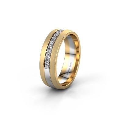 Trouwring WH0413L26APM 585 witgoud diamant ±6x1.7 mm